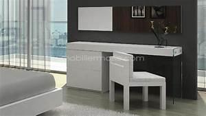 Coiffeuse Meuble Blanc : coiffeuse bureau design crystalline mobilier moss mobilier moss ~ Teatrodelosmanantiales.com Idées de Décoration