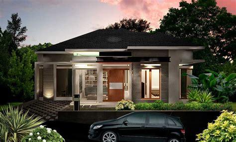 photo tampak depan modren tropis ds house  desain arsitek