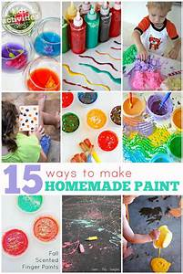 15 easy homemade paint recipes kids activities With what kind of paint to use on kitchen cabinets for cool stickers for snowboards