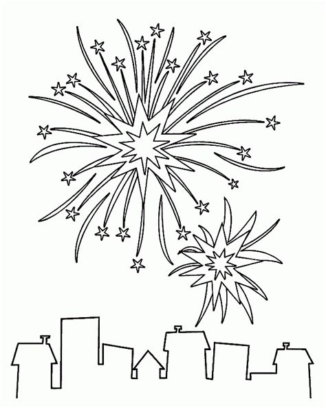 firework coloring pages coloring home