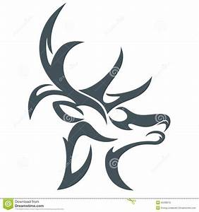 Head deer abstract stock illustration. Image of leaf ...