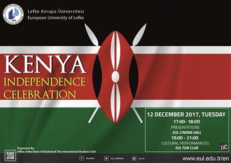 kenya independence celebration european university lefke