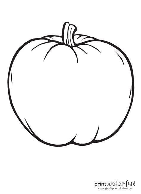 big blank pumpkin  color coloring page print color