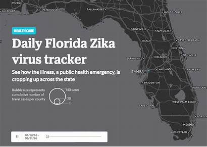 Zika Virus Florida Tracker Students Interactive Distribute