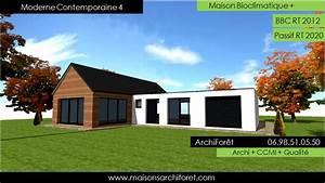 Maison Architecte Plain Pied : maison contemporaine moderne et design d architecte constructeur ossature bois plan photo et ~ Melissatoandfro.com Idées de Décoration