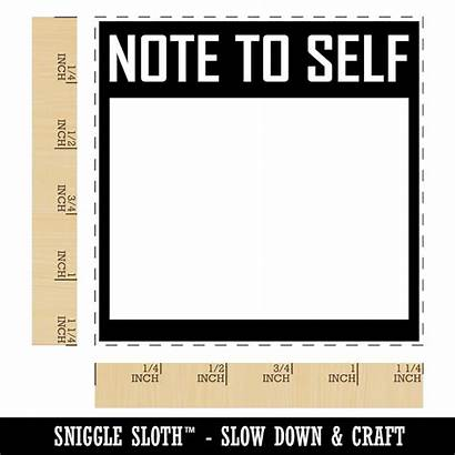 Blank Rubber Stamp Self Note Square Crafting