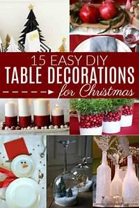 Diy, Christmas, Table, Decorations