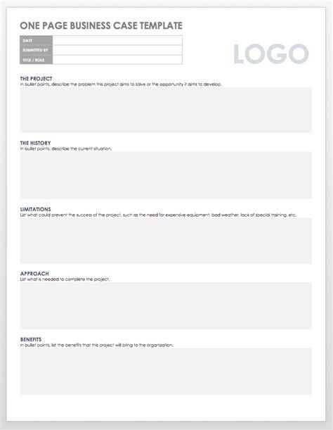 free business case templates smartsheet