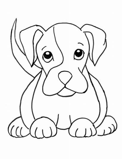 Boxer Coloring Puppies Dog Puppy Pages Printable