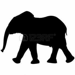 Baby Elephant Silhouette Clipart - Clipart Suggest