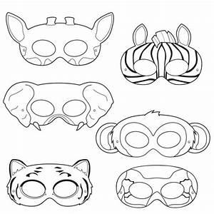 jungle animals coloring masks monkey mask elephant mask With jungle animal mask templates