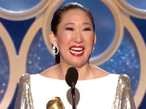 sandra oh acceptance speech sandra oh thanks parents in korean after golden globe win