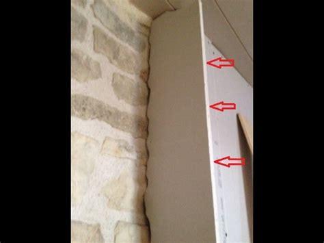 comment couper  ajuster une cloison en placo sur  mur