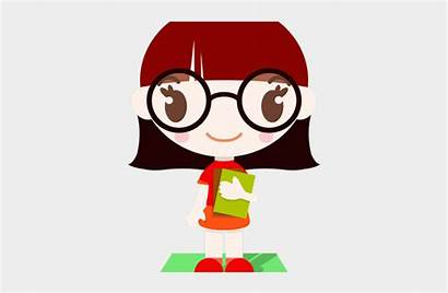 Librarian Cartoon Glass Character Boy Glasses Clipart