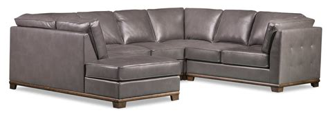 Oakdale Sofas by Oakdale 4 Leather Look Fabric Left Facing Sectional