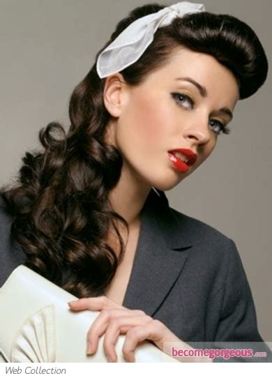 50s Hairstyles For Curly Hair by 30 Best Retro Hairstyles