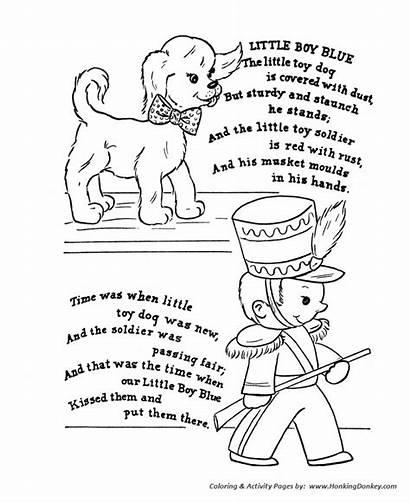 Nursery Rhyme Coloring Rhymes Pages Goose Mother
