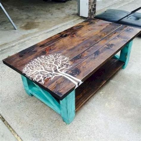 Red and rustic mexican pine coffee table trunk ! 19 Easy DIY Coffee Table Inspiration Ideas | Diy coffee table, Crate coffee table, Painted ...