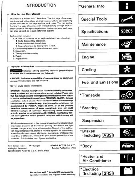 acura integra rs ls gs  service manual