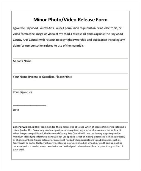 video waiver release form photo release form template 9 free pdf documents