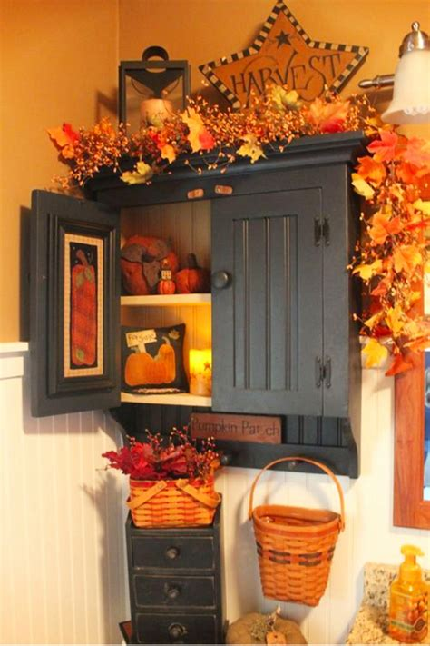 fall bathroom decor  fall autumn bathroom decorating