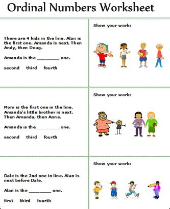 ordinal and cardinal numbers worksheets free math