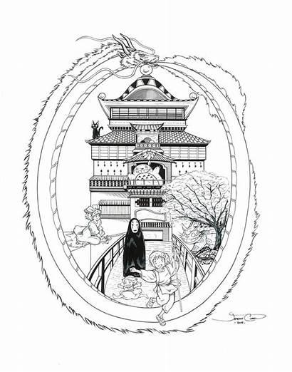 Spirited Away Totoro Ghibli Tattoo Studio Mash