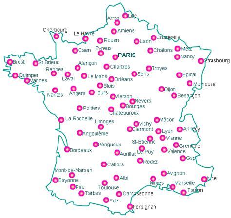 Carte De à Imprimer Avec Villes by Carte De