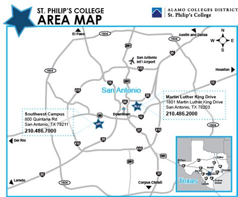 spc directional map alamo colleges