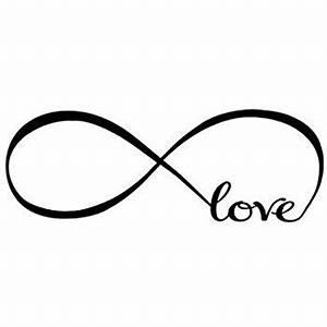 Amazon com: CUGBO Love Infinity Symbol Vinyl Wall Decal