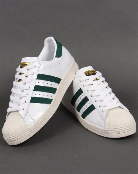 Adidas Superstar 80s Trainers WhiteGreen,originals,shell