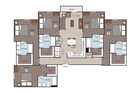 in apartment floor plans 5 bedroom apartment floor plans savae org