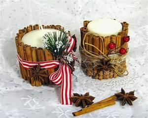 Weihnachtsgeschenke Für Eltern Basteln : duftkerzen mit zimtst bchen selber basteln ~ Orissabook.com Haus und Dekorationen