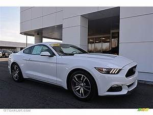 2016 Oxford White Ford Mustang EcoBoost Premium Coupe #118694721 | GTCarLot.com - Car Color ...