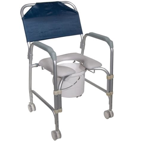 drive portable shower chair commode with wheels at