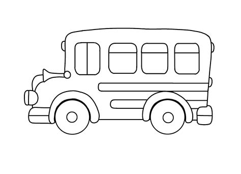 Kleurplaat Autobus by Kleurplaat Peuter Kleurplatenl