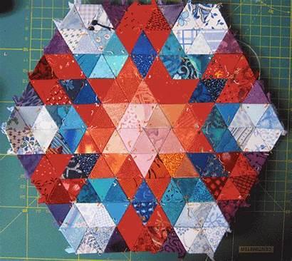 Quilt Charm Quilts Hexagones Autre Lili Clic