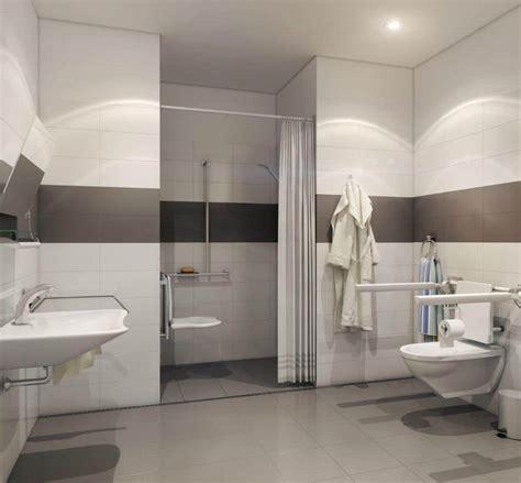 Barrier Free Bathroom Design by Trough Shower Drains Hospital Shower Drain Solutions