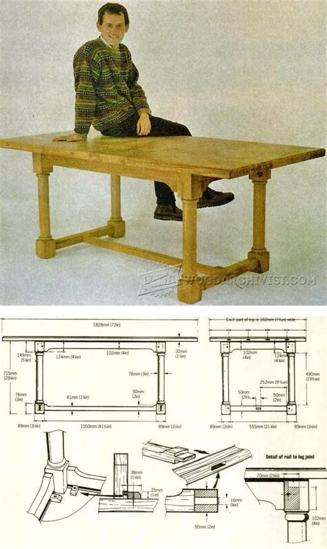 country table plans furniture plans  projects