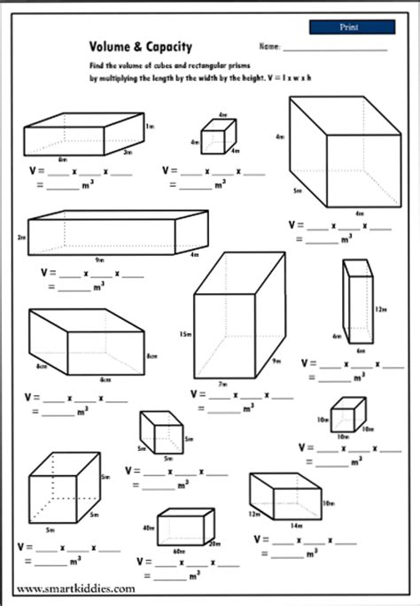 calculating the volume of rectangular prisms mathematics
