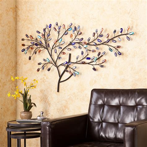 tree wall sculpture brenchan metal glass tree wall sculpture home 2929