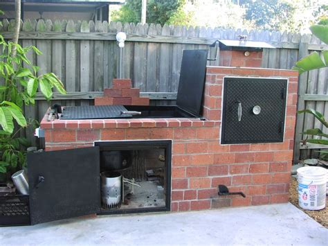 brick barbecue  steps  pictures