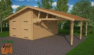 Garage Bois 40m2 : carport bois pour voiture camping car stmb construction ~ Melissatoandfro.com Idées de Décoration