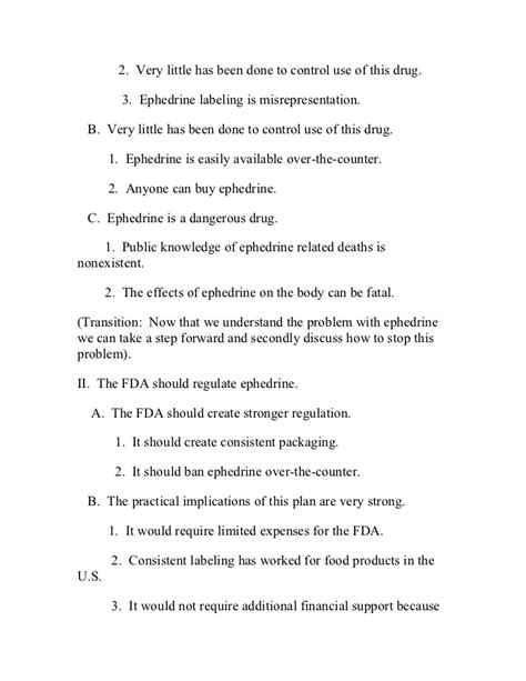 Problem Solution Outline Template by Persuasive Speech Sle Outline Problem