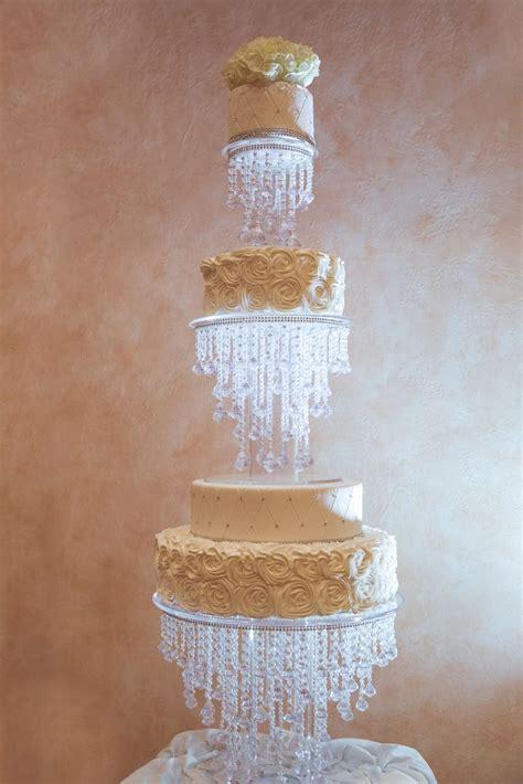 crystal wedding cake ivory wedding cake bling