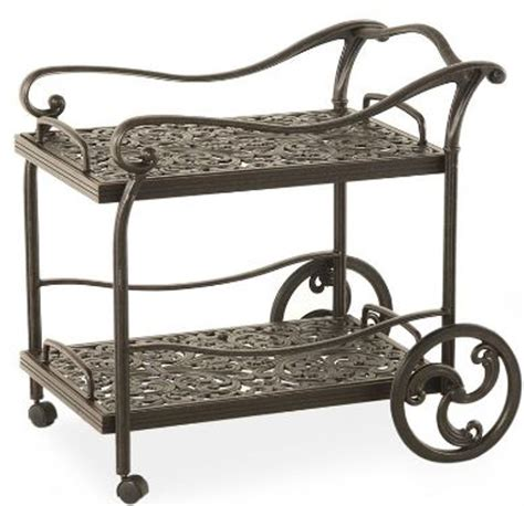 montclair serving cart for outdoor use