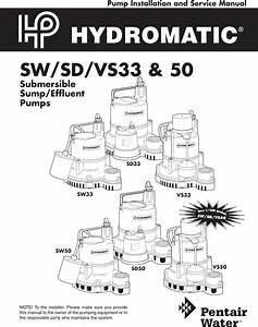 138794 2 Hydromatic Sw33 Owners Manual W 03 445 User