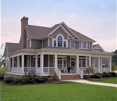 wrap around porch house plans farm house favething
