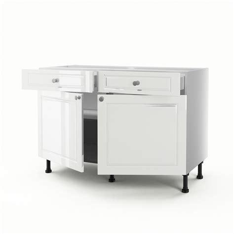 meuble bas cuisine leroy merlin meuble de cuisine bas blanc 2 portes 2 tiroirs chelsea h