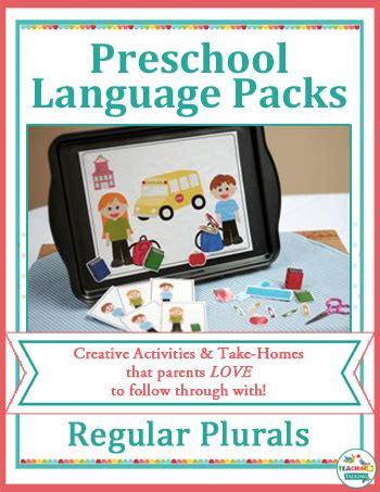 creative preschool speech therapy activities for busy slps 431 | preschool plurals cover